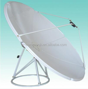 Hot sale!!2.4m satellite dish antenna 240cm Ku band C band panel steel antenna