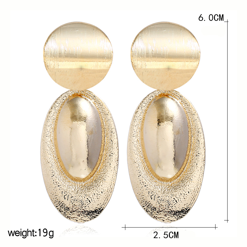 Vintage Women Geometric Jewelry Zinc Alloy Long Drop Earrings Designer