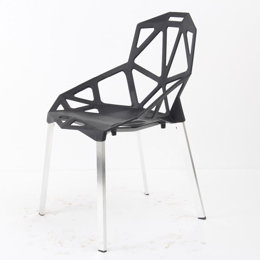 Modern plastic chairs - Plastic Chair With Aluminum Legs Plastic Chair With Aluminum Legs Suppliers And Manufacturers At Alibaba Com