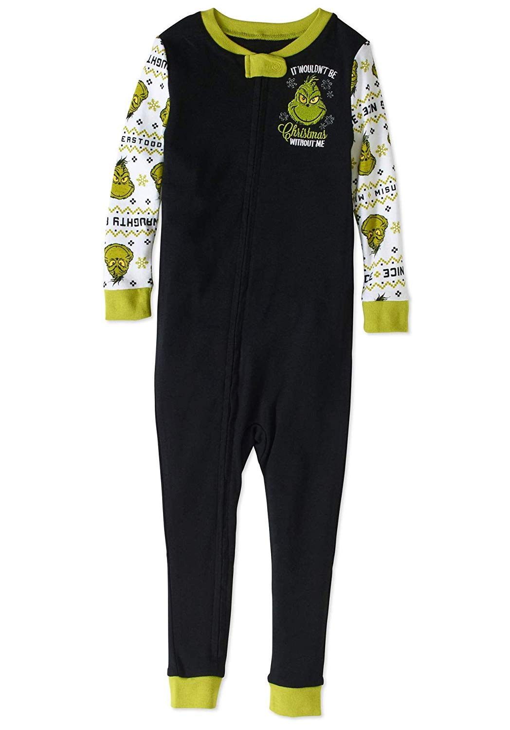 8566311c83 Get Quotations · The Grinch Christmas Holiday Pajamas Baby Toddler Unisex  Footless Sleeper