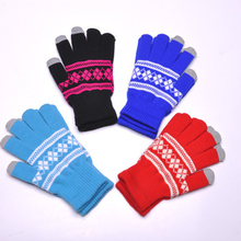 Wholesale Customized jacquard Touch Screen Gloves for Smart Phone