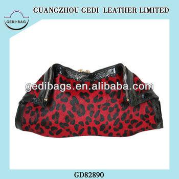 dac9daf6a Animais de pele de leopardo saco de pele saco de marca design enrolado  forma embreagens bolsas