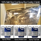 100% Solids Clear Coat Epoxy Floor Coating 3 Gal kit