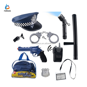 Unique Halloween plastic police toys for kids,kids police play set role play toy10pcs