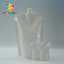 Plastic Cosmetic Spout Pouch For Facial Mask Reusable Hair Dye Chemical Packaging Spout Bag