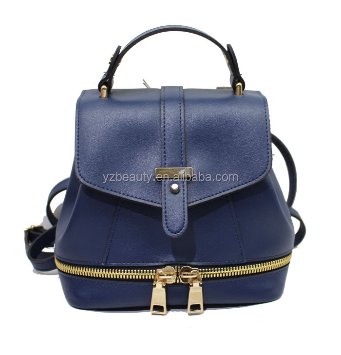 2017 fashionable good quality wholesale pu backpack for ladies women handbags