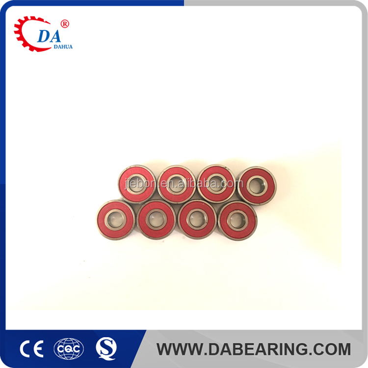 High speed Red skateboard ball bearings 608rs ball bearings for skateboard