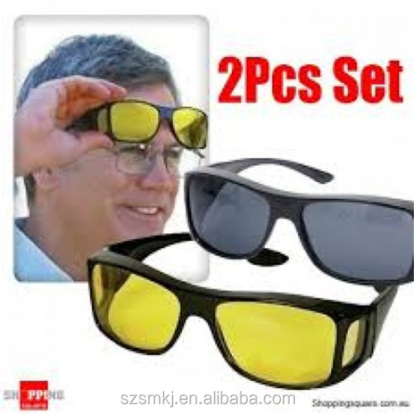 On Hd Sunglasses Seen hd Vision Sunglasses day Glasses As Glasses day Night Tv And 2pcs Buy Glasses Driving PON80wkXZn