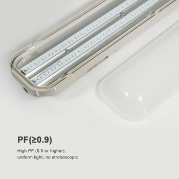 Ip65 Led Tube Fixture/t8 tri proof light/IP65 triproof light fitting