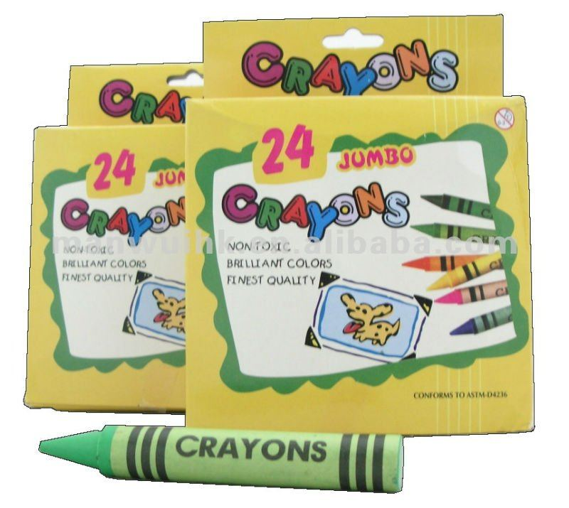 RJ24 24 Colours Jumbo Wax Crayon