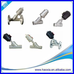 China Manufactory Thread Pneumatic Angle Seat Valve For Single Acting