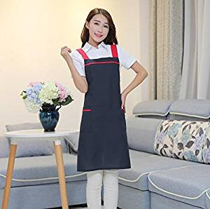 GL&G Female adjustable shoulder apron, anti-fouling anti-oil, durable wear, cooking gardening aprons,F,one size
