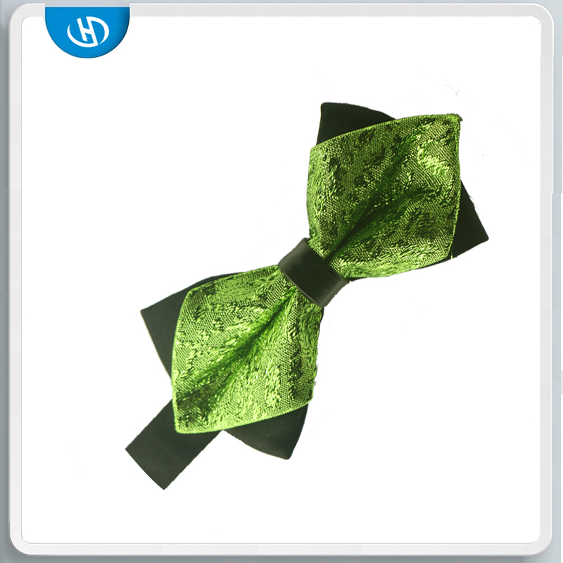 Green Small Tie And Handsome Plain Baby Bow Tie Cotton