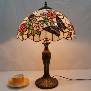 16 inch tiffany handmade glass desk lamp stained glass table lamp