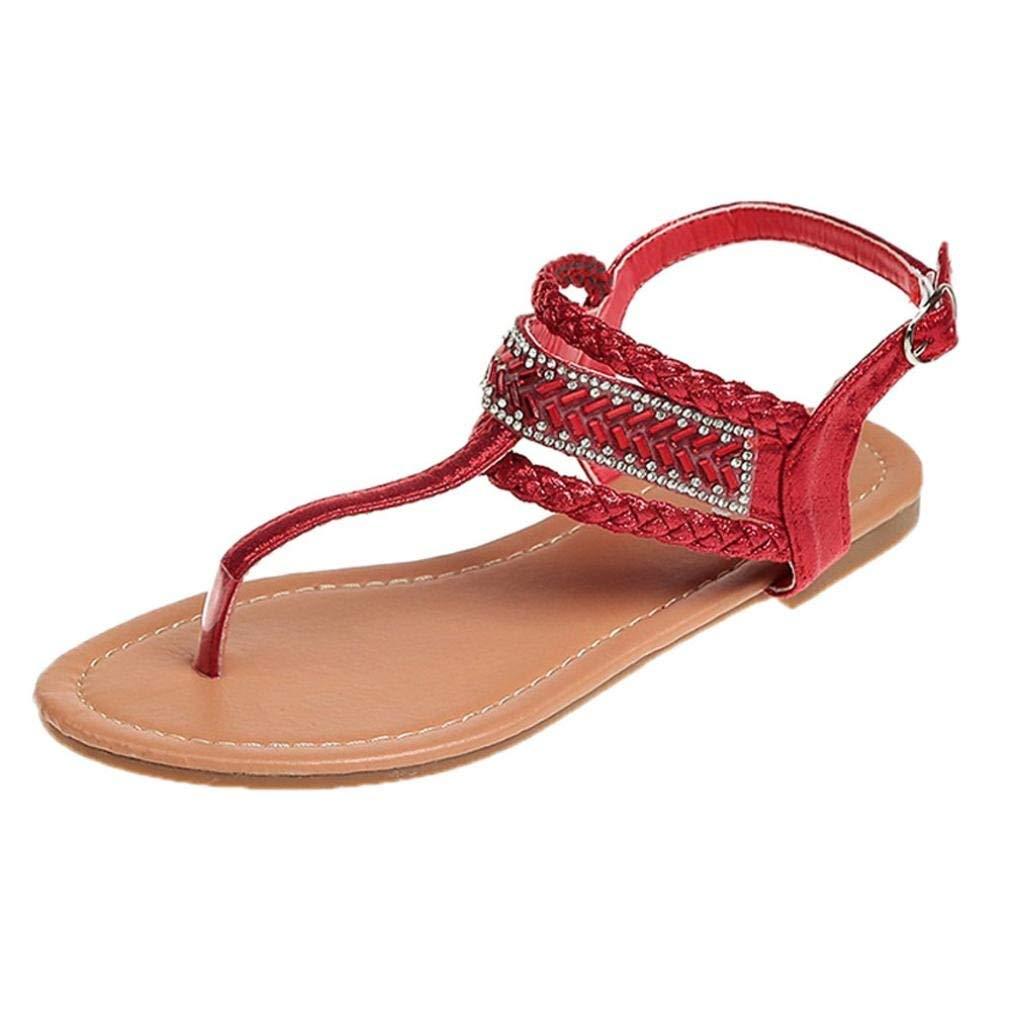 681e2603cd6ac6 Get Quotations · G Kshop T-strap Flat Sandals