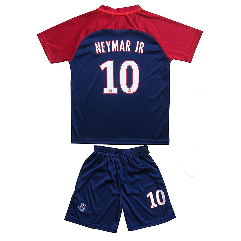 af546484345 Get Quotations ·  10 Neymar JR Paris Saint Germain PSG Home Blue  Kids Youth Boys