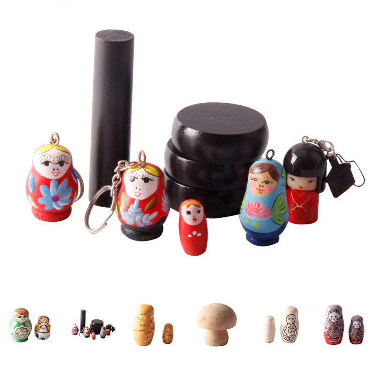 FQ brand traditional nativity wooden blank stackable kids russian nesting dolls