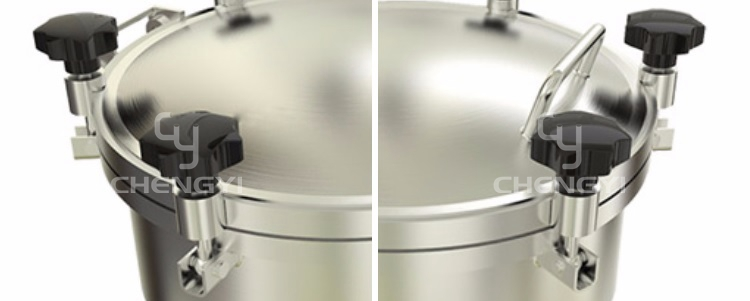 SS304 SS316L stainless steel pressure vessel manway cover