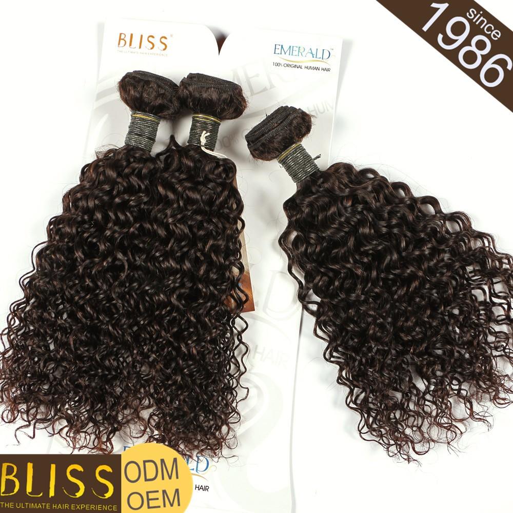 Bliss Emerald Hair Mongolian Curl Raw Brazilian Human Hair Weave