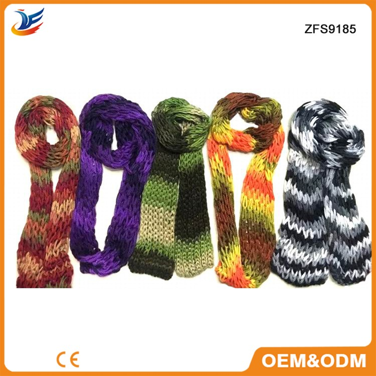 Custom various knitted jacquard weave scarf