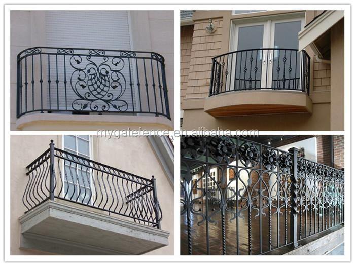 2016 simple modern balcony railing designs iron grill for Balcony models
