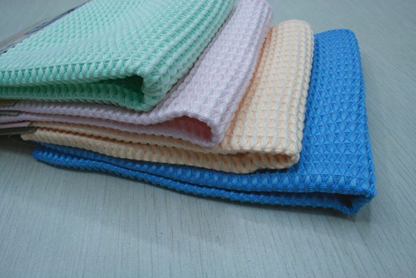 China Supplier Cotton Polyester Waffle Fabric For Hotel