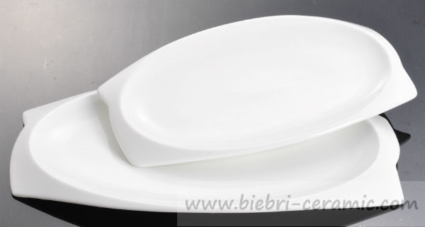 Restaurant Hotel Ceramic Porcelain Oval Shaped Dessert Salad Side ...