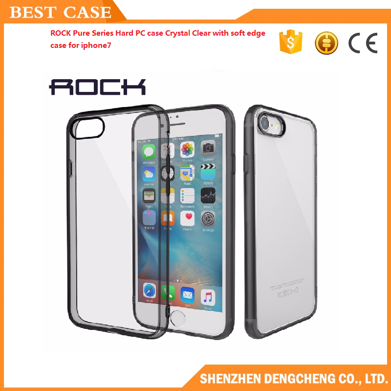 ROCK Pure Series Hard PC case Crystal Clear with soft edge case for iphone7