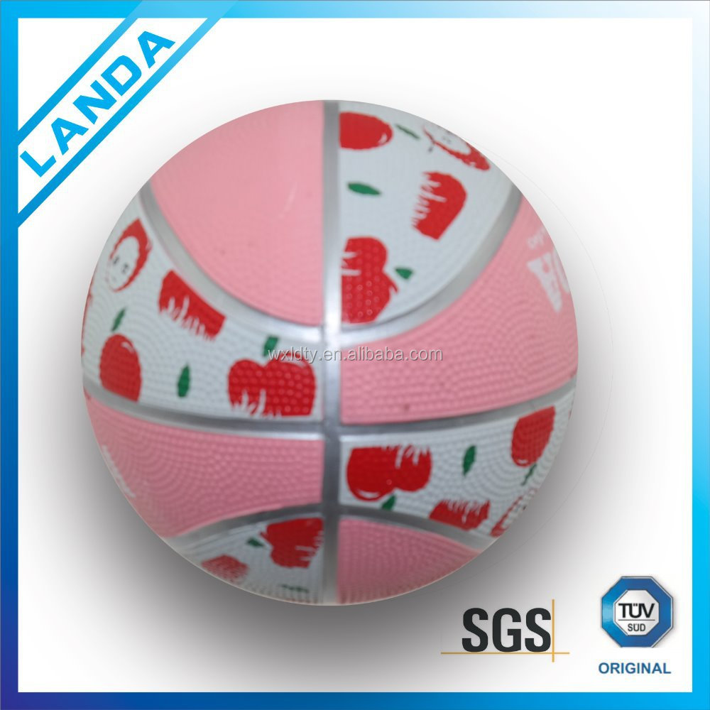 New style promotional kids toy mini rubber basketball