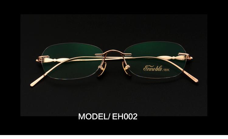 Cadres de lunettes en or 18k, 4 pièces, personnalisable, en chine, EH002