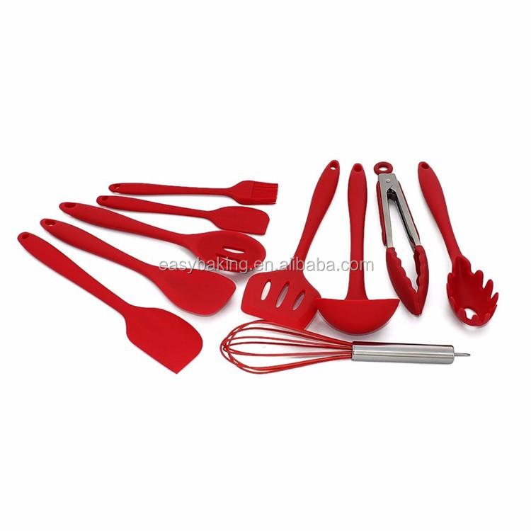 Silicone Kitchen Utensils, 10 Piece Cooking Utensil Set Spatula, Spoon, Ladle,.jpg