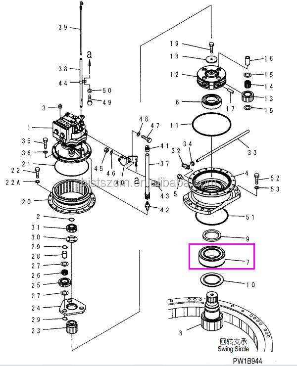 High Quality Genuine Excavator Parts Pc200