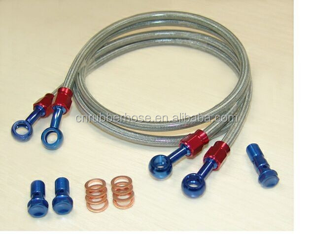 Wire braided Teflon brake hose for car modification