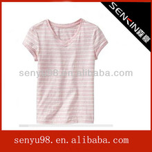 New style 100 cotton v neck t shirts for Girl