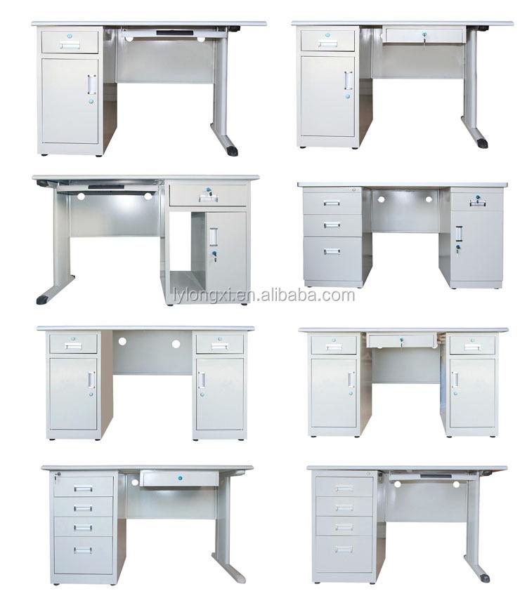 Desk Iron Computer Desk With Locking Drawers - Buy Desk,Computer Desk