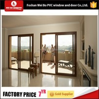 The anti-theft security balcony pvc sliding door with cheap price