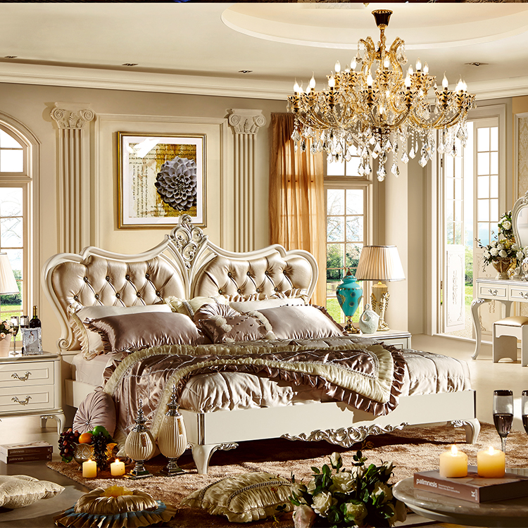 Cream Color French Bedroom Set