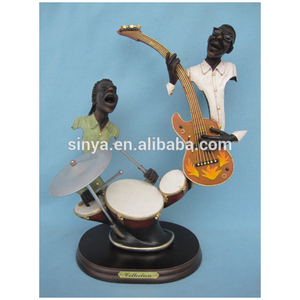 Cheap polyresin jazz player figurine Musician Statue