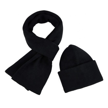 2019 new fashion winter set high quality wool scarf and hat set