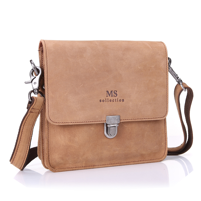 2ace154fc5 Buy Vintage Style Crazy Horse Leather Man Bag oil wax Senior Genuine  Leather Messenger Shoulder Bag Classical Brown crossbody bag in Cheap Price  on ...