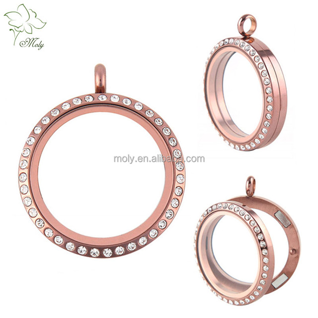 China glass locket pendants wholesale alibaba hot sale custom 316l stainless steel rose gold glass locket pendant wholesale and retail aloadofball Choice Image