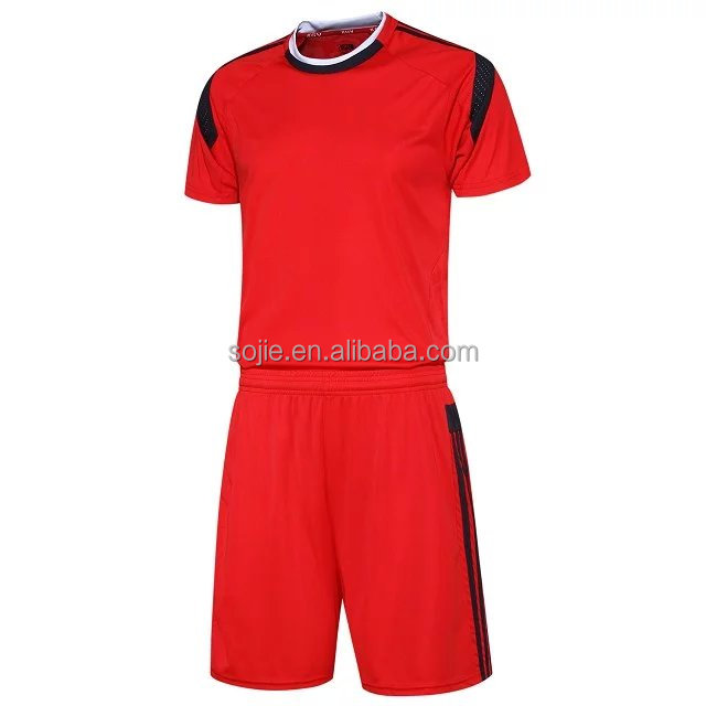 Custom made soccer team uniform, high quality football wear wholesale blank team soccer unifrom