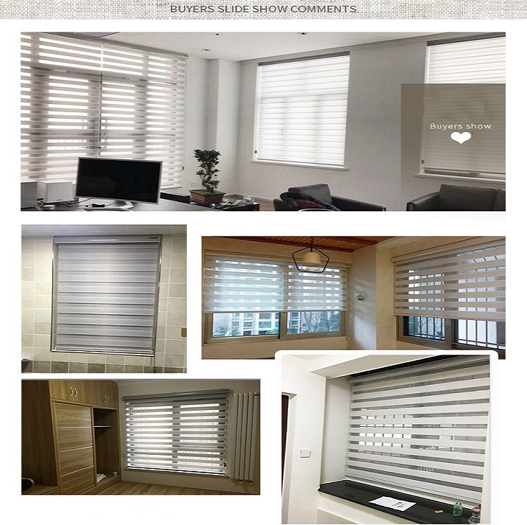 19 years Shop celebration special  Dual sheer cortinas roller blinds zebra shades