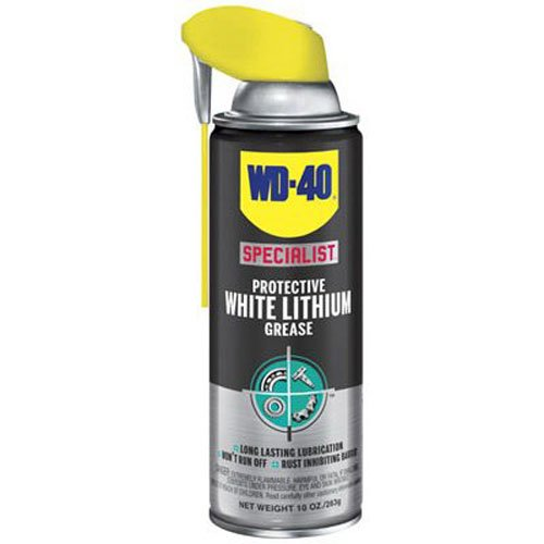 WD-40 Specialist Protective White Lithium Grease Spray with SMART STRAW SPRAYS 2 WAYS, 10 OZ