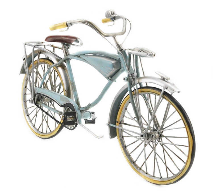 1959 Vintage Metal Crafts Art Handmade Retro Iron Bicycle Home Decor 1:8 Scale Article For Table Decoration