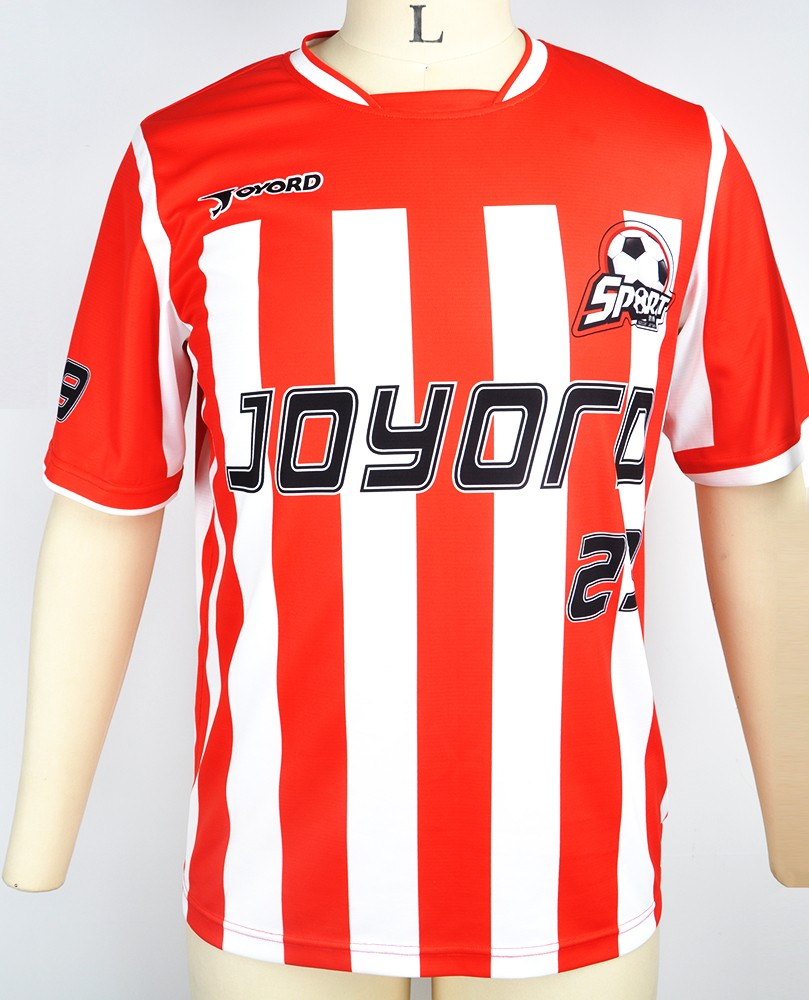 2016 100 polyester custom soccer jersey with sublimation for Custom football shirt printing
