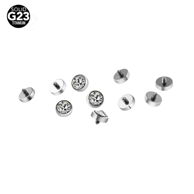 Grosir body piercing jewelry G23 Titanium Dermal Jangkar piercing