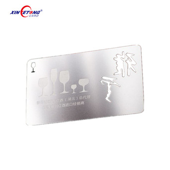 High grade both side brushed metal stainless steel business card high grade both side brushed metal stainless steel business cardvisiting card reheart Image collections