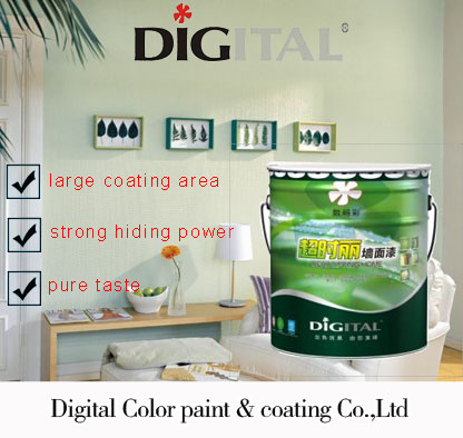 Digital Color Environmental Anti Corrosion Natural Decorative Interior Wall Paint For Bedroom