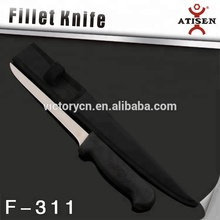 stainless steel and equipment in fishing knife with sheath F-311